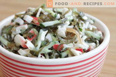 Seaweed salad with egg - five best recipes. Cooking delicious salad with sea kale and egg.