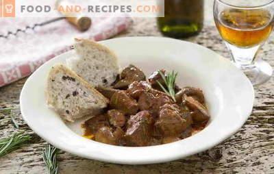 Il goulash di fegato di manzo è un piatto semplice e conveniente. Ricette ricette passo-passo per il gulasch di fegato di manzo
