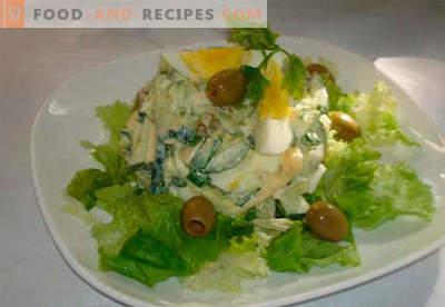 Insalata con cetrioli e uova - le cinque migliori ricette. Come cucinare correttamente e gustoso un'insalata con cetrioli e uova.