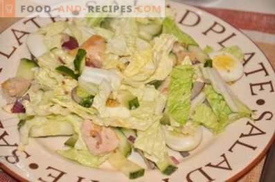 Insalata con fegato di merluzzo e uova di quaglia