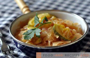 Cavolo stufato con zucchine