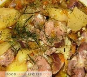 Stufati di pollo in umido con patate