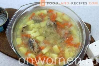 Zuppa di pesce in scatola