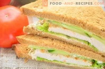 Сендвич со 'рж леб, гради и краставици