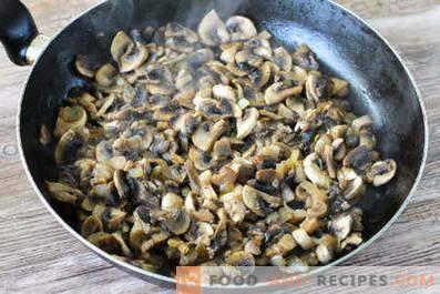 Riempimento di funghi per pancake
