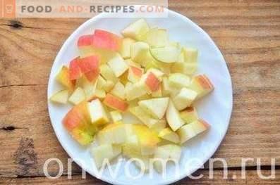 Granola di mele con arachidi