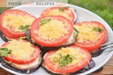 Пържени патладжани с домати и сирене