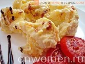 Cavolfiore con formaggio in forno