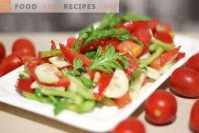 Insalata con rucola e pomodorini
