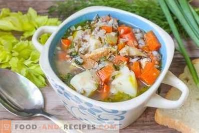 Zuppa di pollo al grano saraceno