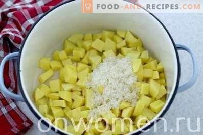 Zuppa con formaggio fuso