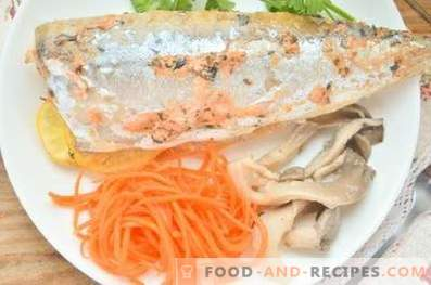 Mackerel baked with sour cream and spices