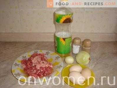 Carne Zrazy con uovo e cipolla