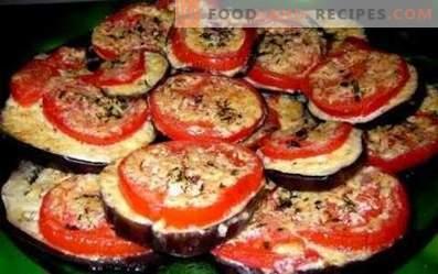 Melanzane fritte con pomodoro e aglio