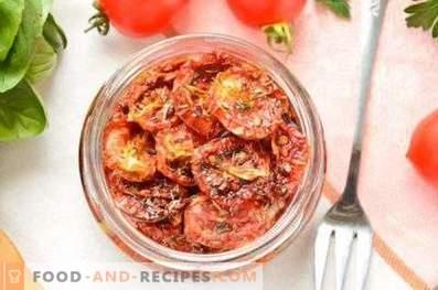 Pomodori essiccati al sole a casa