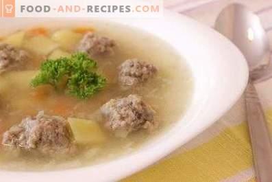 Zuppa di polpette di manzo