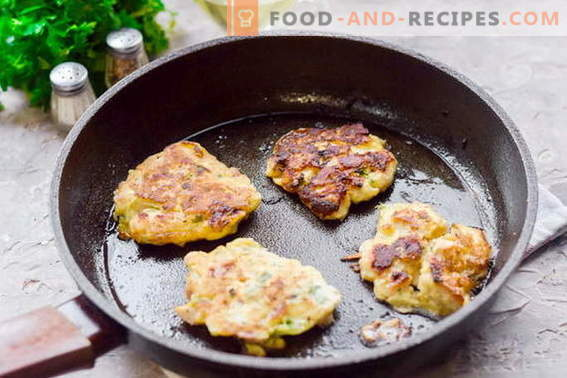 Chopped chicken pancakes with bacon that my husband loves