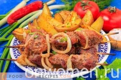 Kebab di maiale nel forno