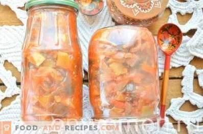 Verdure al vapore nel pomodoro per l'inverno