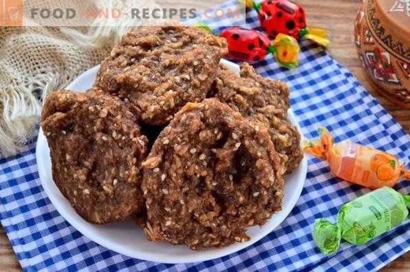 Biscotti di farina d'avena con banana