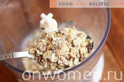 Frullati con farina d'avena e banana