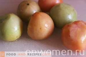 Pomodori verdi sott'aceto per l'inverno