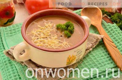 Zuppa di crema di fegato di pollo
