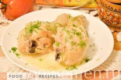 Cosce di pollo al forno in kefir in pentola a cottura lenta