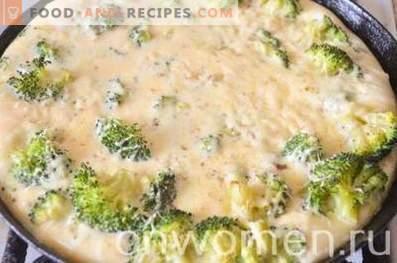 Frittata con broccoli e formaggio nel forno