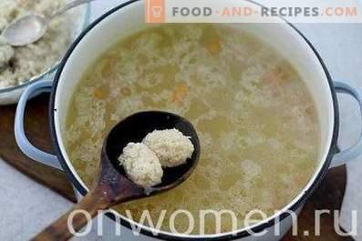 Zuppa di gnocchi di pollo