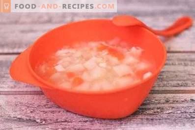 Zuppa di pollo dietetica in pentola a cottura lenta