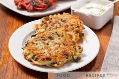 Frittelle di patate con funghi