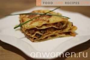 Lasagna con carne macinata e funghi