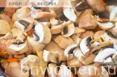 Goulash di pollo con funghi