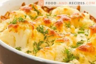 Cavolfiore cotto al forno con formaggio