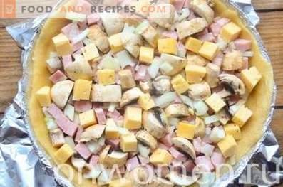 Kish Loren con prosciutto e formaggio