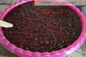 Ribes nero, grattugiato con zucchero per l'inverno