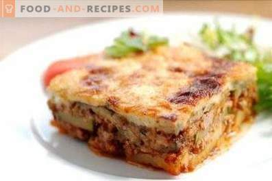 Moussaka in greco