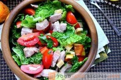 Condimento per insalata di verdure fresche