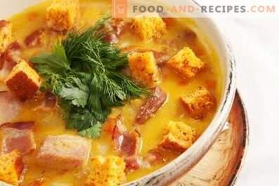 Супа от пушено месо от грах