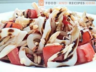 Insalata di calamari con pomodoro e formaggio