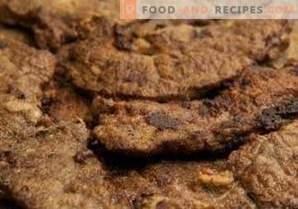 Fegato di manzo fritto con cipolle