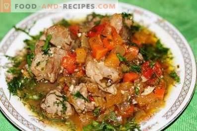 Turchia in umido con verdure