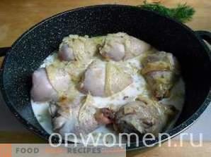 pollo in umido nel latte