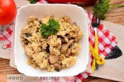 Risotto con pollo e funghi
