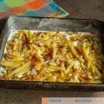 Tortino di pesce con mintai e patate fritte