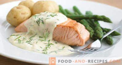 salsa di pesce bianco