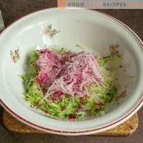 Zucchine grigliate con crema e salsa di verdure