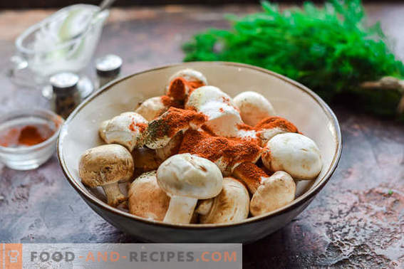 Kebab di champignon alla griglia o al forno. Ti dimenticherai della carne