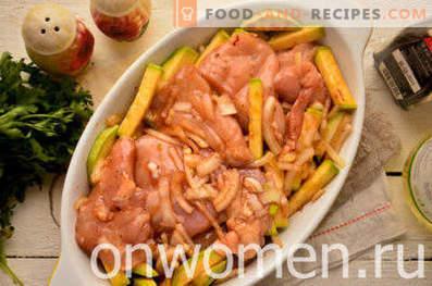 pollo con zucchine al forno